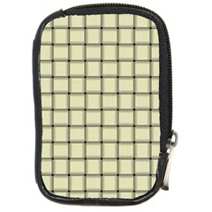Cream Weave Compact Camera Leather Case