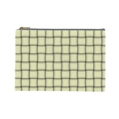 Cream Weave Cosmetic Bag (large)