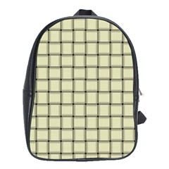 Cream Weave School Bag (large)