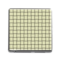 Cream Weave Memory Card Reader with Storage (Square)