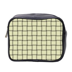 Cream Weave Mini Travel Toiletry Bag (Two Sides)