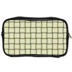 Cream Weave Travel Toiletry Bag (two Sides)