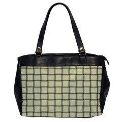 Cream Weave Oversize Office Handbag (one Side)