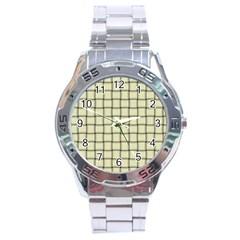 Cream Weave Stainless Steel Watch (men s)