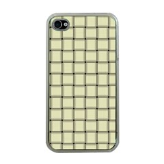 Cream Weave Apple Iphone 4 Case (clear)