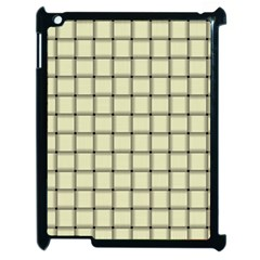 Cream Weave Apple iPad 2 Case (Black)