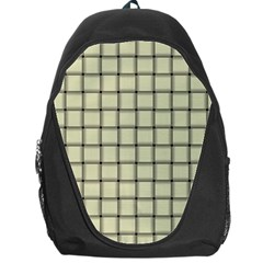 Cream Weave Backpack Bag