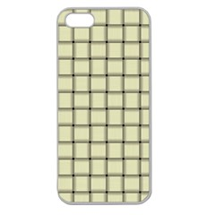 Cream Weave Apple Seamless iPhone 5 Case (Clear)