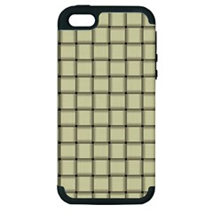 Cream Weave Apple Iphone 5 Hardshell Case (pc+silicone)