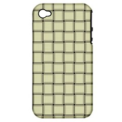 Cream Weave Apple Iphone 4/4s Hardshell Case (pc+silicone)