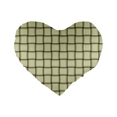 Cream Weave 16  Premium Heart Shape Cushion