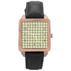 Cream Weave Rose Gold Leather Watch