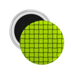 Fluorescent Yellow Weave 2.25  Button Magnet