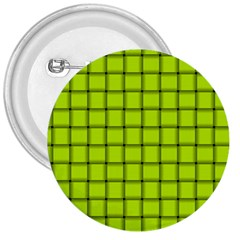 Fluorescent Yellow Weave 3  Button