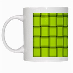 Fluorescent Yellow Weave White Coffee Mug