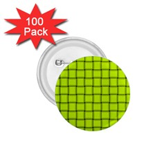 Fluorescent Yellow Weave 1.75  Button (100 pack)