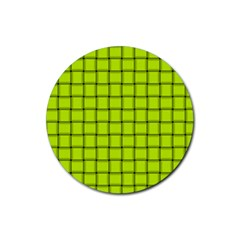 Fluorescent Yellow Weave Drink Coasters 4 Pack (round)