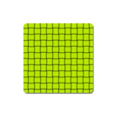 Fluorescent Yellow Weave Magnet (Square)