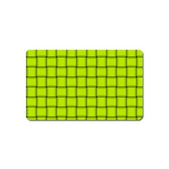 Fluorescent Yellow Weave Magnet (name Card)