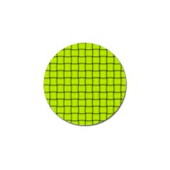 Fluorescent Yellow Weave Golf Ball Marker 4 Pack