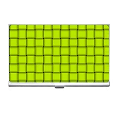Fluorescent Yellow Weave Business Card Holder