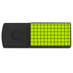 Fluorescent Yellow Weave 2GB USB Flash Drive (Rectangle)