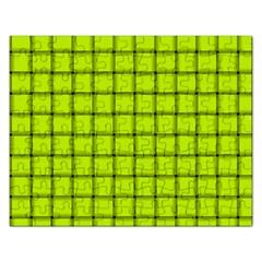 Fluorescent Yellow Weave Jigsaw Puzzle (Rectangle)