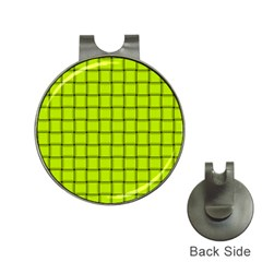 Fluorescent Yellow Weave Hat Clip with Golf Ball Marker