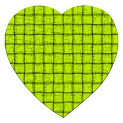 Fluorescent Yellow Weave Jigsaw Puzzle (Heart)