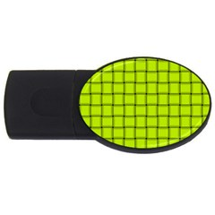 Fluorescent Yellow Weave 4GB USB Flash Drive (Oval)