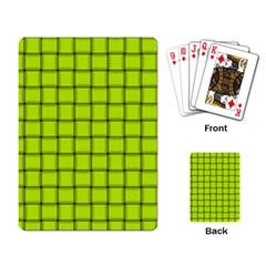 Fluorescent Yellow Weave Playing Cards Single Design