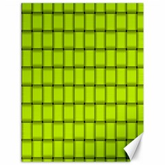 Fluorescent Yellow Weave Canvas 12  x 16  (Unframed)