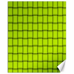 Fluorescent Yellow Weave Canvas 16  x 20  (Unframed)