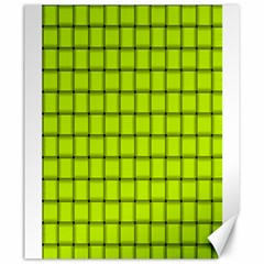 Fluorescent Yellow Weave Canvas 20  X 24  (unframed)