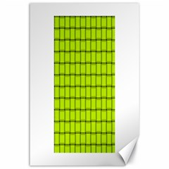 Fluorescent Yellow Weave Canvas 24  X 36  (unframed)