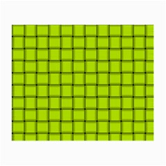 Fluorescent Yellow Weave Glasses Cloth (Small, Two Sided)