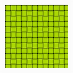 Fluorescent Yellow Weave Glasses Cloth (Medium, Two Sided)