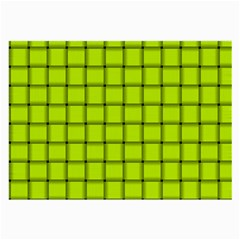 Fluorescent Yellow Weave Glasses Cloth (large, Two Sided)