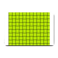 Fluorescent Yellow Weave Small Door Mat