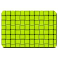 Fluorescent Yellow Weave Large Door Mat