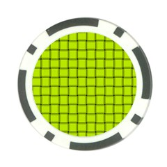 Fluorescent Yellow Weave Poker Chip