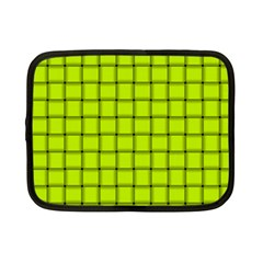 Fluorescent Yellow Weave Netbook Case (Small)