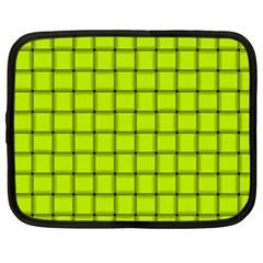 Fluorescent Yellow Weave Netbook Case (Large)