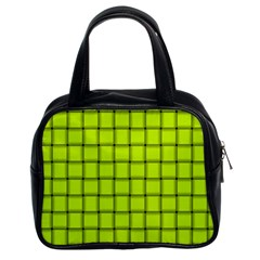 Fluorescent Yellow Weave Classic Handbag (two Sides)