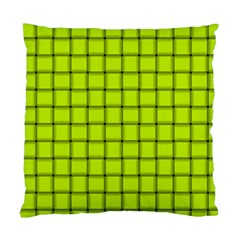 Fluorescent Yellow Weave Cushion Case (One Side)