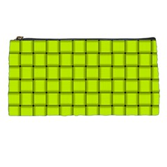 Fluorescent Yellow Weave Pencil Case