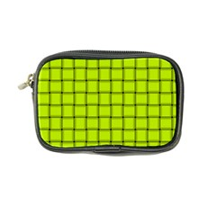 Fluorescent Yellow Weave Coin Purse