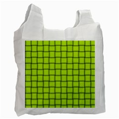 Fluorescent Yellow Weave Recycle Bag (two Sides)