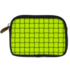 Fluorescent Yellow Weave Digital Camera Leather Case
