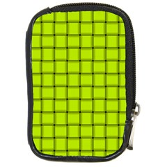 Fluorescent Yellow Weave Compact Camera Leather Case